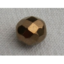 Facette 8mm Bronze Or