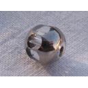 facette 8mm cristal bordée argent