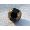 facette 8mm noir bordée bronze