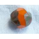 Facette irrégulière 10mm Orange