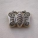 Fermoir aimanté 31x23 papillon Argent