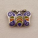 Fermoir aimanté papillon émaillé 31x23
