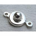 Fermoir pression 8mm argenté vif - 30x0.42€