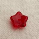 Fleur 10mm Rouge siam