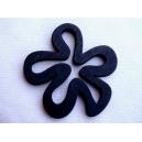 Fleur 45x47 Noir