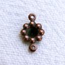 Fleur cuivrée 2 anneaux - 30x0.10€