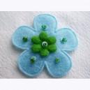 Fleur en feutrine 35mm Bleu Ciel