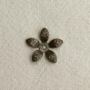 Fleur filigranée 15mm Bronze - 50x0.05