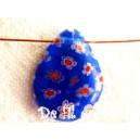 Goutte plate 17x12 Bleu Cobalt