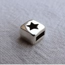 Intercalaire carré 6x6 étoile argenté