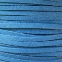 Lacet 3mm Bleu Saphir Clair