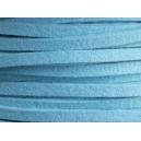 Lacet 3mm Bleu Turquoise 1 mètre