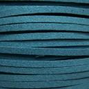 Lacet 3mm Bleu Turquoise Foncé 1 mètre