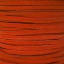 Lacet 3mm Orange 1 mètre