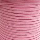 Lacet 3mm Rose 1 mètre
