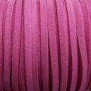 Lacet 3mm Rose camélia 1 mètre