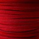 Lacet 3mm Rouge 1 mètre