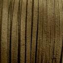 Lacet 3mm Vert kaki 1 mètre