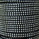 Lacet 5mm clouté Noir 1 mètre