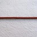Lacet en cuir 1.5mm Brique - 1 mètre