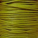 Lacet en cuir 2mm Vert pistache - 1 mètre.