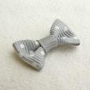 Noeud papillon 27x13 Gris perle