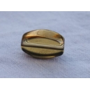Olive plate 12x7 Topaze / doré