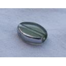 Olive plate 12x7 Vert érinite / argenté