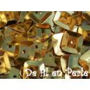 Paillettes carrées 6x6 doré sachet de 4.5 grammes