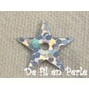 Paillettes étoiles 10mm Argenté reflets disco