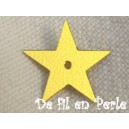 Paillettes étoiles 12mm doré sachet de 4.5 grammes