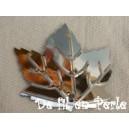 Paillettes feuilles 22x22 Argenté sachet de 4.5 grammes