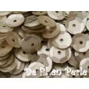 Paillettes rondes 6.5mm Beige mat