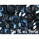 Paillettes rondes 6.5mm Noir-Hématite