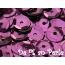 Paillettes rondes 6.5mm Prune
