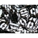 Paillettes rondes 6.5mm rayées argent et noir