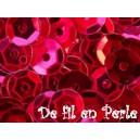 Paillettes rondes 6.5mm Rouge cabaret