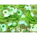 Paillettes rondes 6.5mm Vert Anis irisé