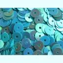 Paillettes rondes plates 6.5mm Bleu turquoise irisé