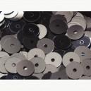 Paillettes rondes plates 6.5mm Gris Hématite