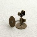 Paire de clous à coller, plateau 8mm Bronze