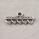 Barre 35mm argent 5 anneaux - 10x0.50€