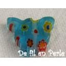 Papillon 12x10 Bleu capri