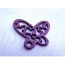 Papillon 25mm Aubergine