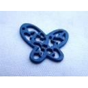Papillon Bois 25mm Bleu
