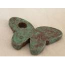 Papillon 35x23 Turquoise Pierre - 5 x 1€