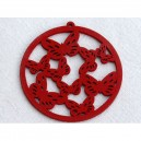Pendentif rond 43mm Rouge