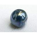 Perle 11mm Bleu pétrole irisé