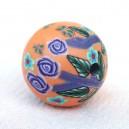 Perle 18mm Abricot