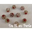 Perle 4mm améthyste/vert clair lot de 10 perles